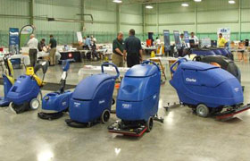 Clarke Janitorial Cleaning Equipment Display at Dobmeier Event