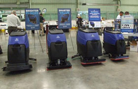Pacific Janitorial Cleaning Equipment Display at Dobmeier Event