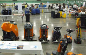 Taski Janitorial Cleaning Equipment Display at Dobmeier Event