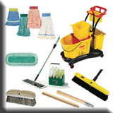 Commercial Cleaning Janitorial Equipment - Commercial Brooms & Brushes, Mops & Buckets