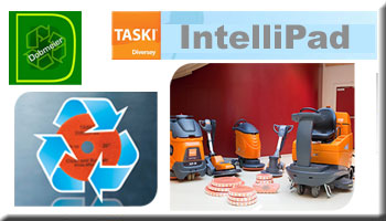 Taski IntelliPad 2 in 1 Cleaning & Burnishing Floor Pad