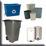 Residential Janitorial Equipment - Residential Recycle & Waste Receptacles