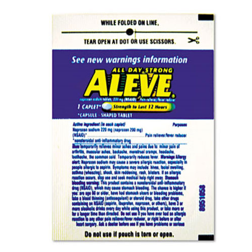 Aleve Pain Reliever SKU#LIL 51030, Acme United Aleve Pain Reliever 1-Pk 30 Pk-Box SKU#LIL 51030