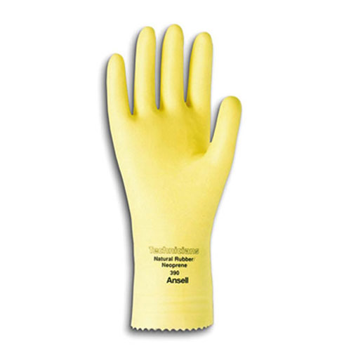 Neoprene Natural Latex Unlined Glove Small SKU#ANS390-7, Ansell Neoprene/Natural Latex Unlined Gloves Small SKU#ANS390-7