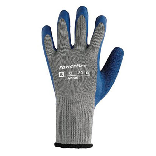 PowerFlex Natural Rubber Seamless Ply Knit Glove Size 10 SKU#ANS80100-10, Ansell PowerFlex Natural Rubber Seamless Ply Knit Gloves Size 10 SKU#ANS80100-10