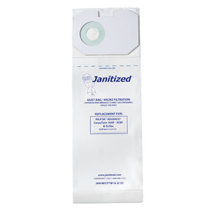 Janitized Vacuum Cleaner Filter Bag SKU#APCJAN-NFCPTW16-2 For Nilfisk-Advance, Janitized Vacuum Cleaner Filter Bags SKU#APCJAN-NFCPTW16-2 For Nilfisk-Advance