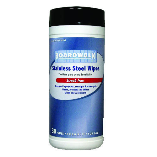 Disposable Stainless Steel Cleaner Wipes SKU#BWK347-W, Boardwalk Disposable Stainless Steel Cleaner Wipes SKU#BWK347-W