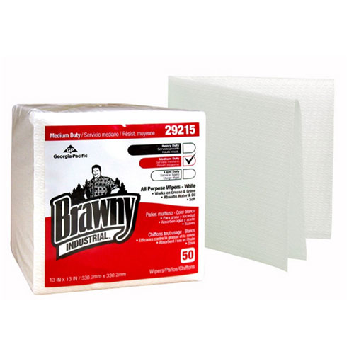 Brawny Industrial Medium Duty All Purpose Airlaid QuarterFold Wipers SKU#GPC29215, Georgia Pacific Brawny Industrial Medium Duty All Purpose Airlaid QuarterFold Wipers SKU#GPC29215