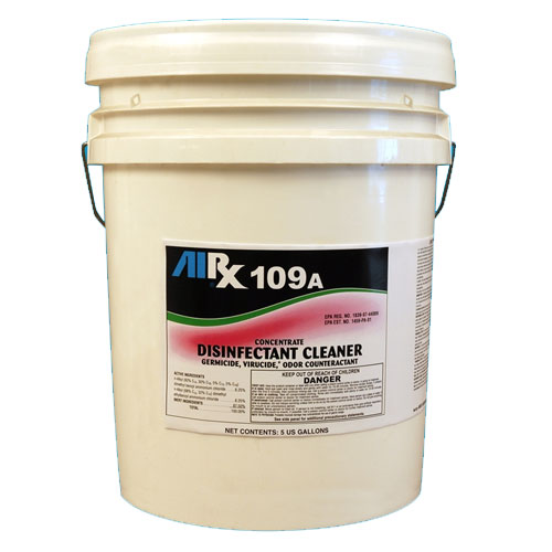 AIRX RX109A Hospital Disinfectant Virucidal Cleaner 5 Gallon SKU#RX109A-5G, Bullen AIRX RX 109A Hospital Disinfectant Virucidal Cleaner 5 Gallon SKU#RX109A-5G