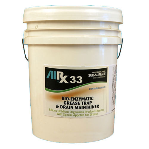 AIRX RX33 Bio-Enzymatic Grease Trap & Drain Treatment 5 Gallon SKU#RX33-5G, Bullen AIRX RX 33 Bio-Enzymatic Grease Trap & Drain Treatment 5 Gallon SKU#RX33-5G