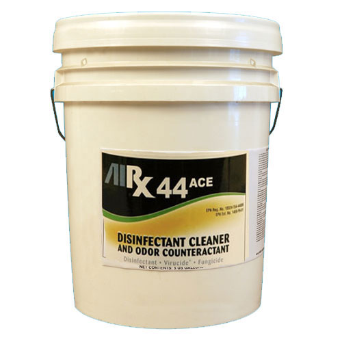 AIRX RX44 ACE Neutral Disinfectant Cleaner Odor Counteractant 5 Gallon SKU#RX44ACE-5G, Bullen AIRX RX 44 ACE Neutral Disinfectant Cleaner Odor Counteractant 5 Gallon SKU#RX44ACE-5G