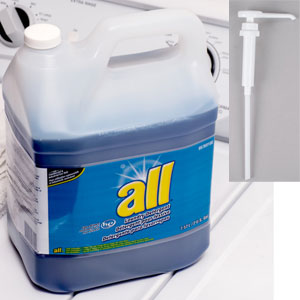 All Concentrated Liquid Laundry Detergent 2 Gallon w Pump SKU#DIVERSEY-95769100, Diversey All Concentrated Liquid Laundry Detergent 2 Gallon w Pump SKU#DIVERSEY-95769100