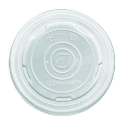 White Plastic Lid For 12-32 Oz Soup Cups 500 Case SKU#ECPEP-ECOLID-SPL, Eco-Products Inc White Plastic Lid For 12-32 Oz Soup Cups 500 Case SKU#ECPEP-ECOLID-SPL