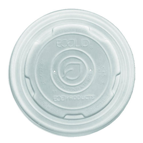 White Plastic Vented Lids For 8 Oz Soup Cup 1000 Case SKU#ECPEP-ECOLID-SPS, Eco-Products Inc White Plastic Vented Lids For 8 Oz Soup Cup 1000 Case SKU#ECPEP-ECOLID-SPS