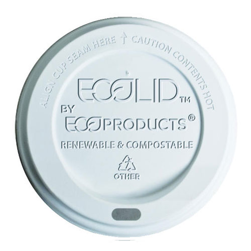 PLA Hot Cup Lid 800 Case SKU#ECPEP-ECOLID-W, Eco-Products Inc PLA Hot Cup Lid 800 Case SKU#ECPEP-ECOLID-W