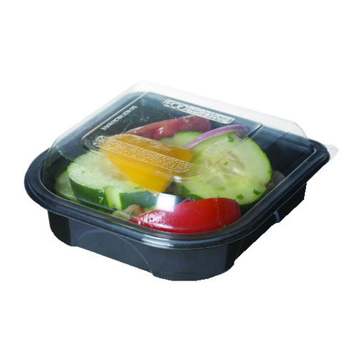 Black Take Out Food Container w Transparent Lid 6in SKU#ECPEP-PT0R6, Eco-Products Inc Black Take Out Food Container w Transparent Lid 6in SKU#ECPEP-PT0R6