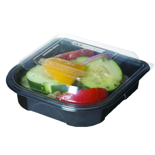 Black Take Out Food Container w Transparent Lid 9in SKU#ECPEP-PT0R9, Eco-Products Inc Black Take Out Food Container w Transparent Lid 9in SKU#ECPEP-PT0R9