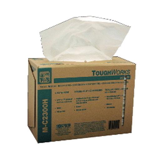 Hospeco Toughworks Heavy Duty Wipes in Pop-up Dispensers - White SKU#HOSGS-C4302, Hospeco Toughworks Heavy Duty Wipes in Pop-up Dispenser - White SKU#HOSGS-C4302