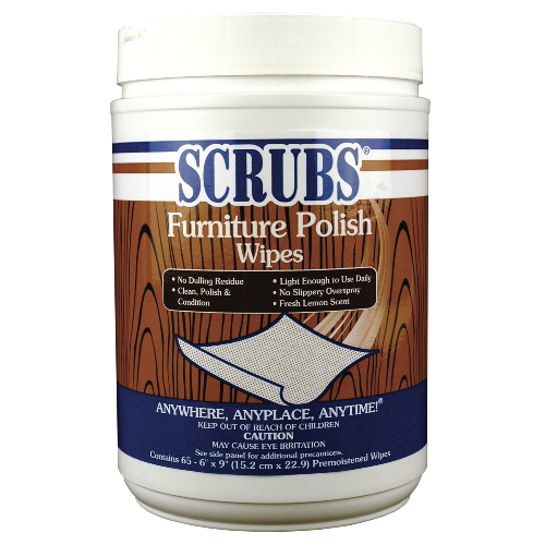 Scrubs Furniture Polish Wipes SKU#DYM92065, ITW Scrubs Furniture Polish Wipes SKU#DYM92065