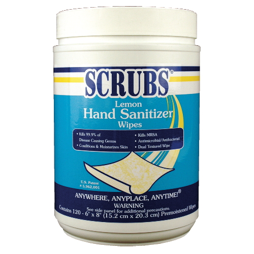 Antimicrobial SCRUBS Hand Sanitizer Wipes SKU#DYM92991, ITW Antimicrobial SCRUBS Hand Sanitizer Wipes SKU#DYM92991
