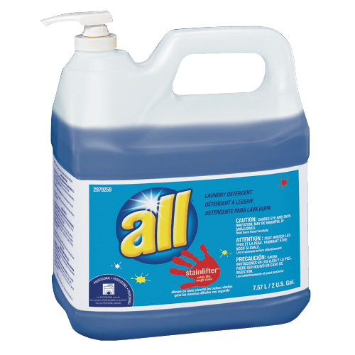 All Liquid Laundry Detergent w Pump SKU#DRK2979259, Diversey All Liquid Laundry Detergent with Pump SKU#DRK2979259