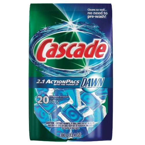 Cascade 2in1 ActionPacs Automatic Dishwasher Detergents SKU#PGC41759, Procter Gamble Cascade 2in1 ActionPacs Automatic Dishwasher Detergent SKU#PGC41759