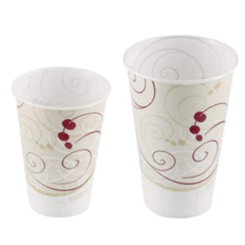 Solo Symphony Design Wax-Coated Paper Cold Cup SKU#SCCR7NSYM, Solo Symphony Design Wax-Coated Paper Cold Cup SKU#SCCR7NSYM