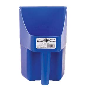 TOLCO 3 Quart Blue Feed Scoop SKU#T240102, TOLCO 3 Quart Blue Feed Scoop SKU#T240102